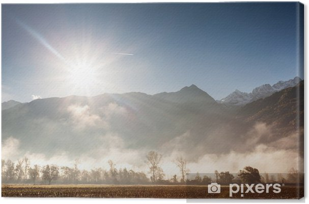 Cuadro en Lienzo FONDOVALLE montano estafa Nebbia - Estaciones