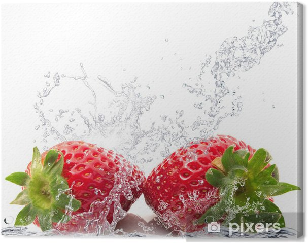 Cuadro en Lienzo Fragole splash - Vinilo para pared