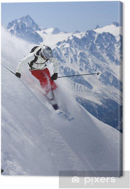 Cuadro en Lienzo Freeride de esquí de 4 - Eqsuí