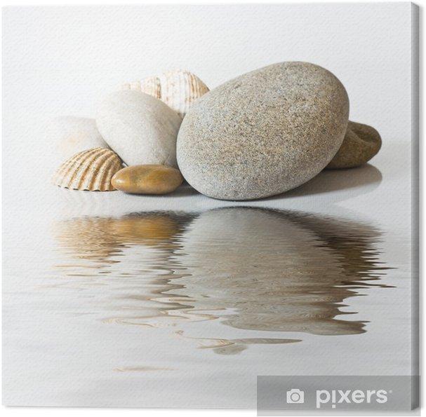 Cuadro en Lienzo Galets et coquillages sur l'eau -
