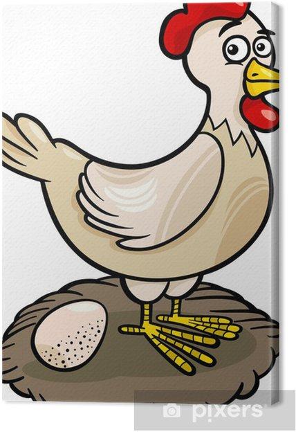 Cuadro en Lienzo Gallina granja de dibujos animados de animales ...