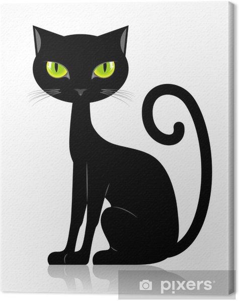 Cuadro en Lienzo Gato negro -
