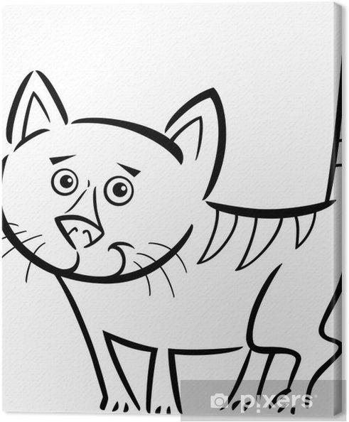 Cuadro en Lienzo Gato o gatito para colorear el libro • Pixers ...