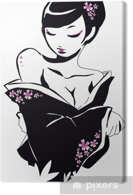 Cuadro en Lienzo Geisha - Abstractos