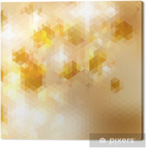 Cuadro en Lienzo Geométrica de fondo de mosaico triángulo. EPS10 - Ecología