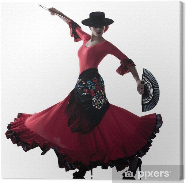 Cuadro en Lienzo Gitana mujer bailando flamenco dancer - Temas