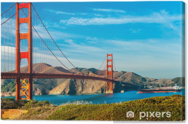 Cuadro en Lienzo Golden Gate, San Francisco, California, EE.UU.. - Continentes