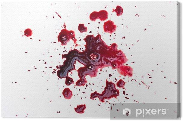 Cuadro en Lienzo Goteo de sangre en blanco - Fondos
