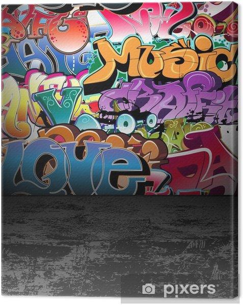 Cuadro en Lienzo Graffiti muro, urbano, arte callejero pintura - Temas