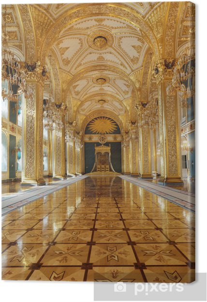 Cuadro en Lienzo Gran Palacio del Kremlin. Pasillo del trono - Moscú