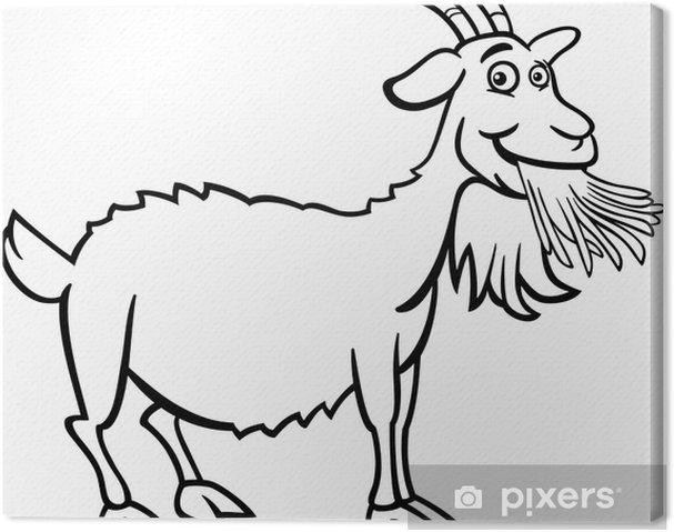 Cuadro en Lienzo Granja de la cabra de libro para colorear • Pixers ...