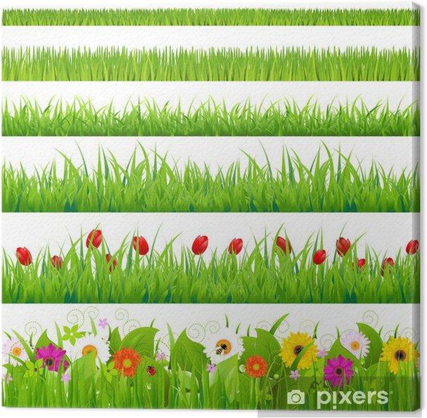 Cuadro en Lienzo Grass Big And Set Flor - Estaciones