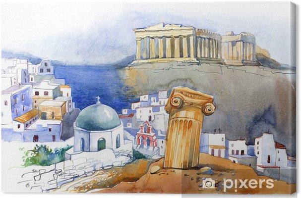 Cuadro en Lienzo Grecia -