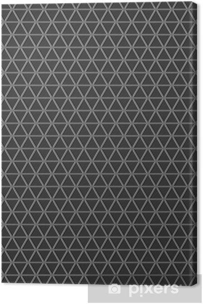 Cuadro en Lienzo Gris triángulos fondo - Señales y símbolos