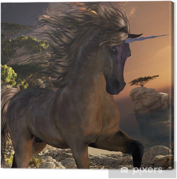 Cuadro en Lienzo Grulla Buck Unicornio - Unicornios