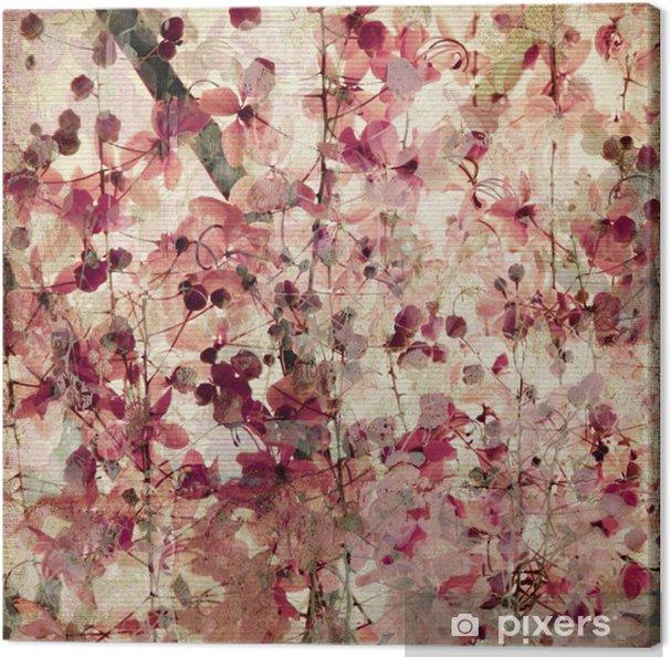 Cuadro en Lienzo Grunge flor de color rosa de fondo ...