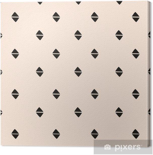 Cuadro en Lienzo Hand Drawn patrón abstracto sin fisuras - Recursos gráficos
