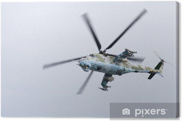 Cuadro En Lienzo Helicóptero De Combate En Acción