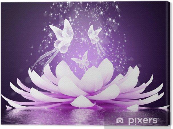 Cuadro en Lienzo Hermosa flor de loto - Estilos