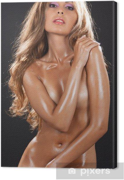 Cuadro En Lienzo Hermosa Mujer Desnuda