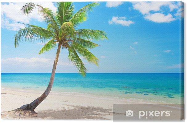 Cuadro en Lienzo Hermosa playa con palmeras de coco. Koh Lanta, Tailandia - Temas