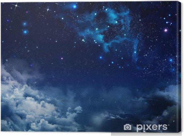 Cuadro en Lienzo Hermoso fondo del cielo nocturno con las estrellas - Temas
