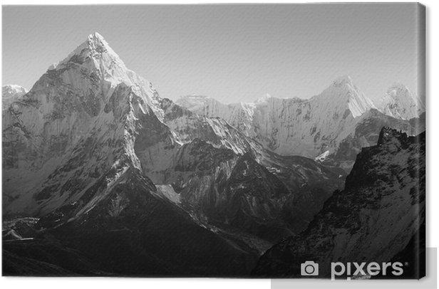 Cuadro en Lienzo Himalaya Montañas Negro y Blanco - Estilos