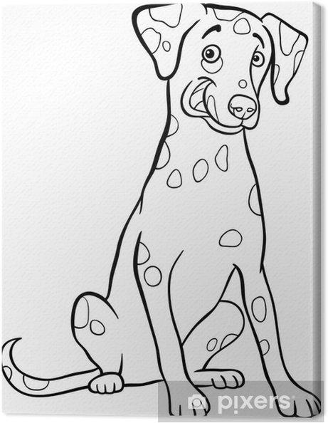 Cuadro en Lienzo Historieta perro dálmata para libro para colorear ...