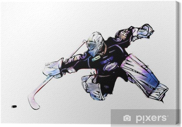 Cuadro en Lienzo Hockey sobre hielo portero - Vinilo para pared