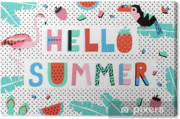 Cuadro en Lienzo Hola cartel de verano - Recursos gráficos