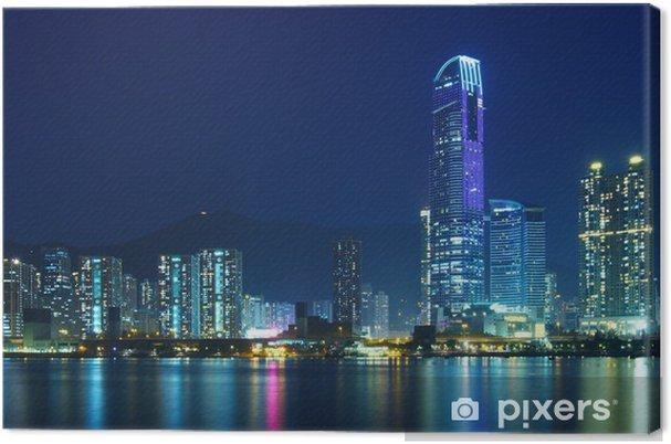 Cuadro en Lienzo Hong Kong ciudad por la noche - Temas