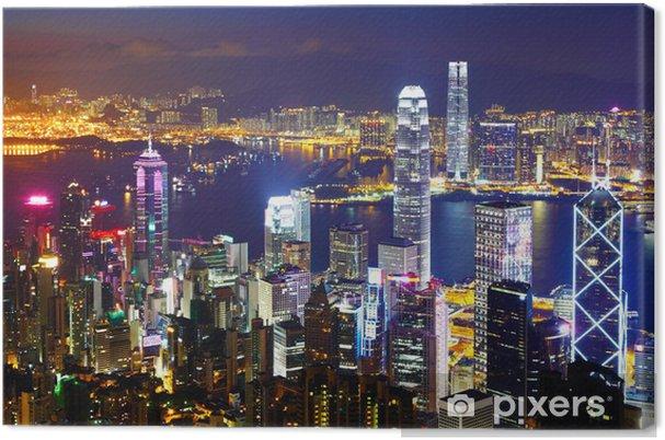 Cuadro en Lienzo Hong Kong por la noche - Asia