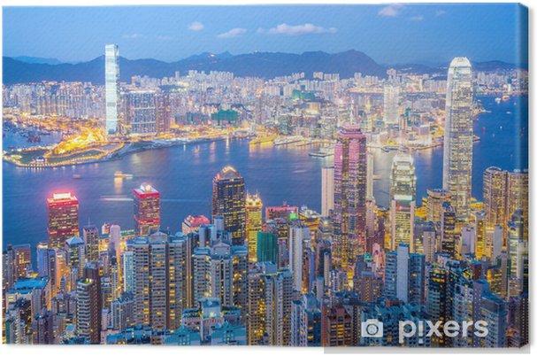 Cuadro en Lienzo Horizonte de Hong Kong en la oscuridad - Estilos