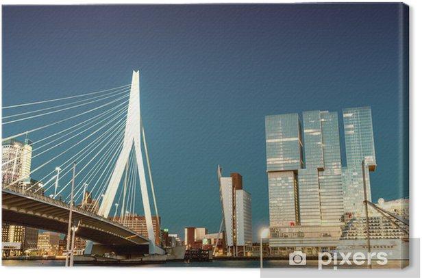 Cuadro en Lienzo Horizonte de Rotterdam desde el puente Erasmus - Temas