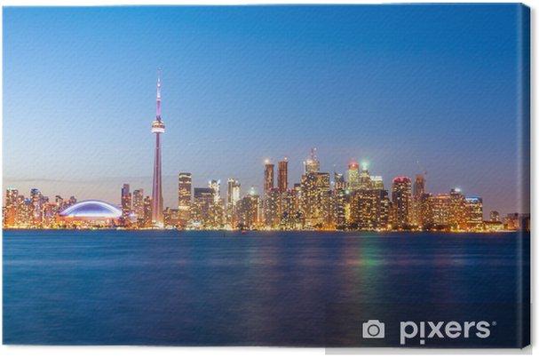Cuadro en Lienzo Horizonte de Toronto después de la puesta del sol - Urbano