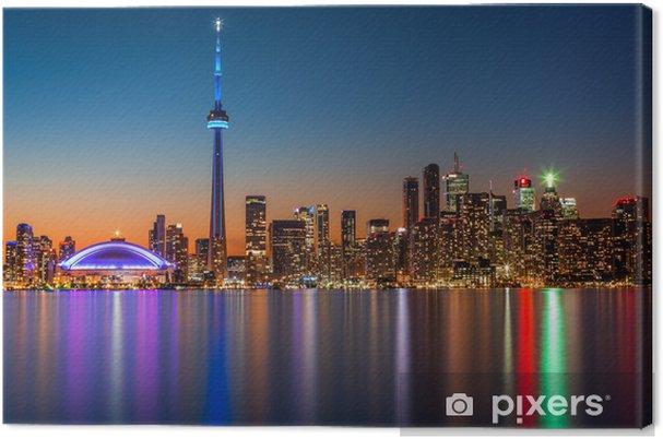 Cuadro en Lienzo Horizonte de Toronto en la oscuridad - Temas