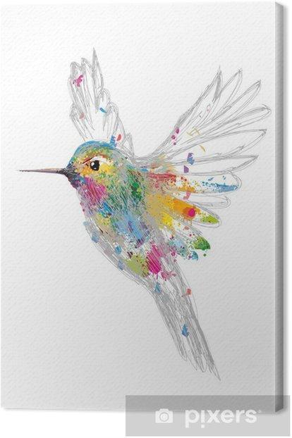 Cuadro en Lienzo Humming-bird - la ciencia y la naturaleza