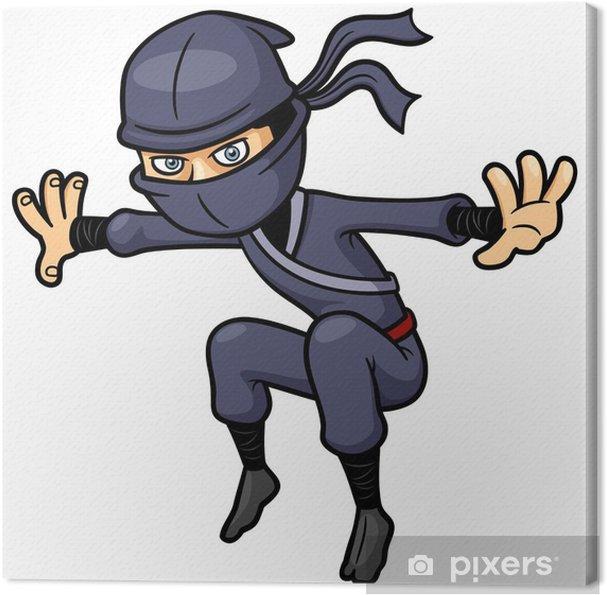 Cuadro en Lienzo Ilustración del vector de Ninja Cartoon - Gente trabajando