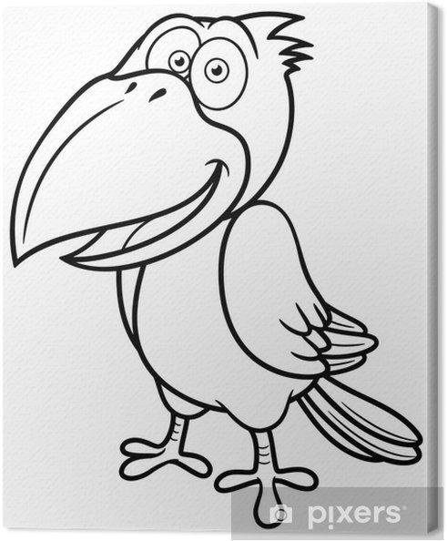 Cuadro en Lienzo Ilustración del vector del cuervo de la historieta ...