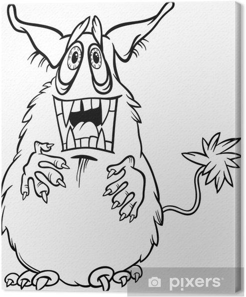 Cuadro en Lienzo Ilustración monstruo de dibujos animados para ...