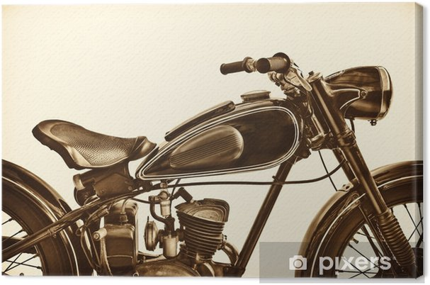Cuadro en Lienzo Imagen de tonos sepia de una motocicleta vintage - Transportes