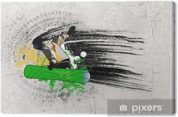Cuadro en Lienzo Imagen Pintada - Deportes de invierno