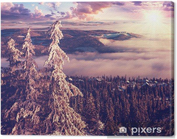 Cuadro en Lienzo Invierno en Noruega -
