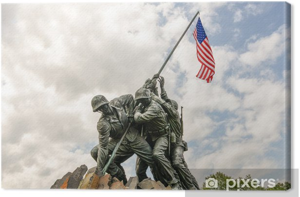 Cuadro en Lienzo Iwo Jima en Washingron DC - Ciudades norteamericanas