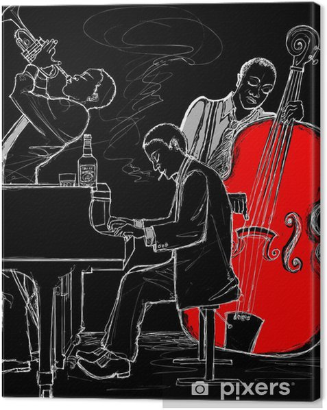 Cuadro en Lienzo Jazz band - Jazz