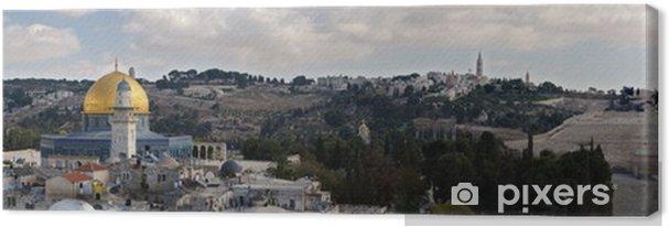 Cuadro en Lienzo Jerusalén - Una ciudad de tres Religions.Panorama - Oriente Medio