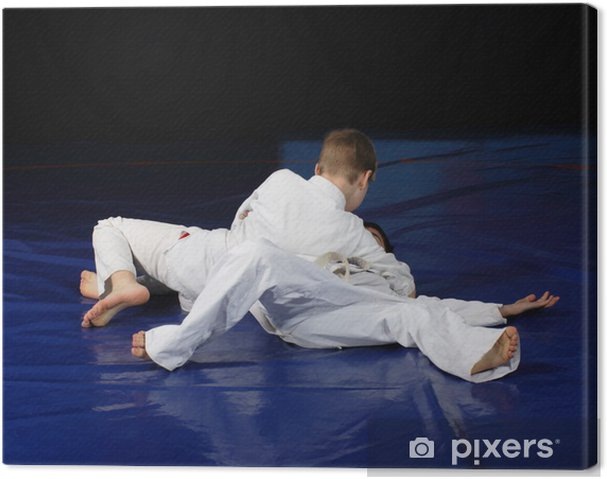 Cuadro en Lienzo Judo competencia combates - Adolescentes
