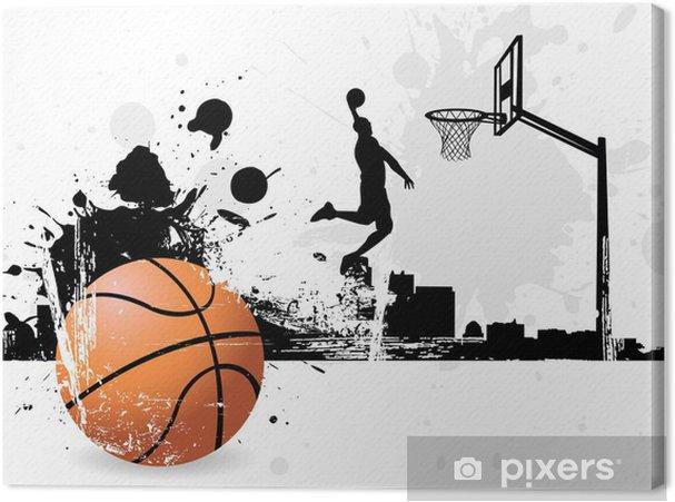 Cuadro en Lienzo Jugador de baloncesto - Baloncesto