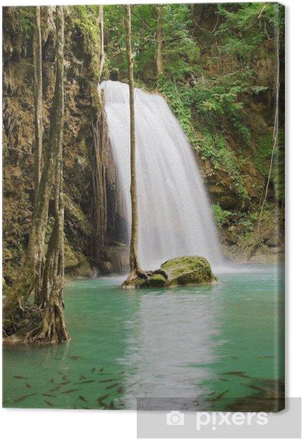 Cuadro en Lienzo Jungle Waterfall - Paz