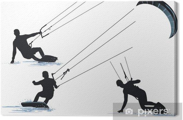 Cuadro en Lienzo Kitesurfen - Deportes individuales
